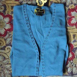 NWT Women's blue open cardigan